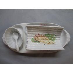 Service à asperges en Porcelaine