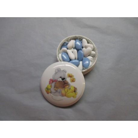 Petite Bonbonnière Fille ou Garçon Décor Lapin & Ours