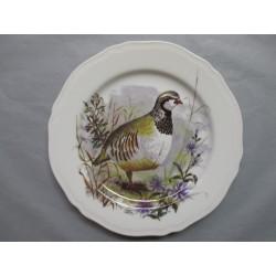 Assiette Murale en Porcelaine Décor Perdrix