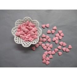 Dragées Médicis Les Petits Coeurs au lait Couleur Rose
