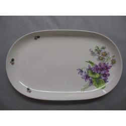 Grand Plat Ovale Décor Violette