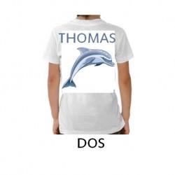 Tee-shirt enfant personnalisé verso