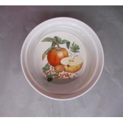 Moule à Soufflé en Porcelaine Décor Fruits
